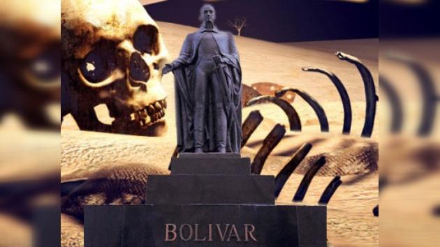 Los forenses examinaron los restos de Bolívar
