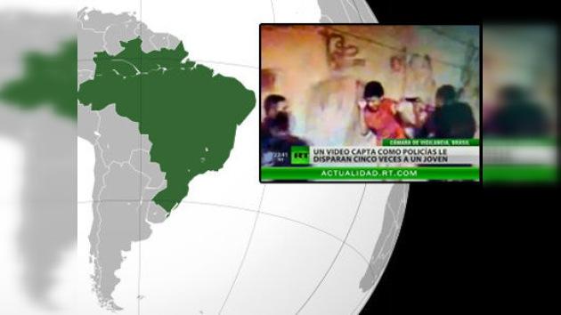 Cinco policías arrestados en Brasil por disparar a un joven a sangre fría