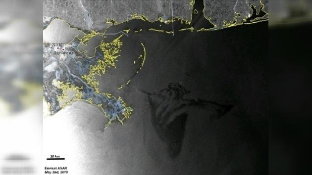 Un nuevo satélite vigila el vertido de crudo en el Golfo de México