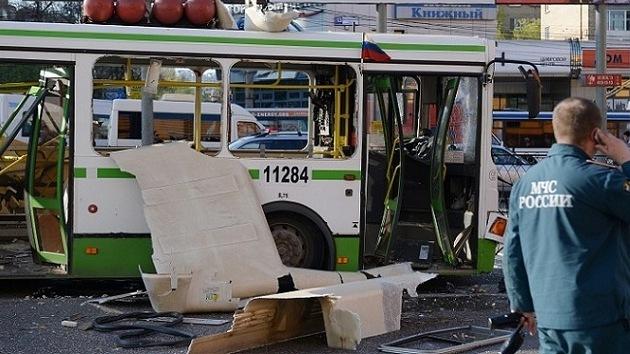 Explosión en un autobús en Moscú
