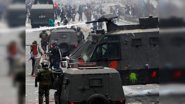 Los mineros de la ciudad chilena de Calama protestan en las calles