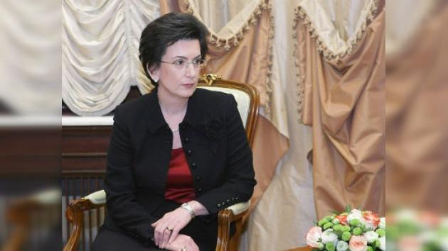 Visita de la líder de la oposición georgiana a Moscú
