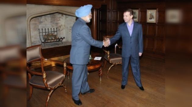 El primer ministro indio inició su visita a Rusia