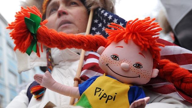 Marcha en Moscú contra la ley que prohíbe la adopción de niños rusos a EE.UU.