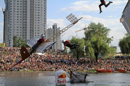 Festival de aviones caseros en Kiev