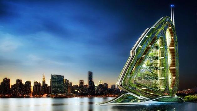 Una granja vertical de 132 pisos, ¿solución al aumento de la población urbana?