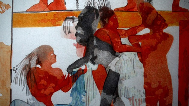 Hallan el primer mural maya pintado al fresco