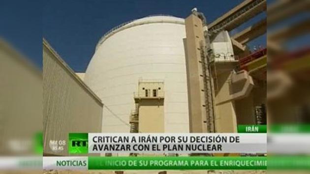 Irán comienza a enriquecer su uranio al 20%