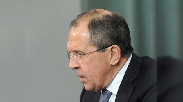Lavrov advierte del peligro de una guerra civil en Siria
