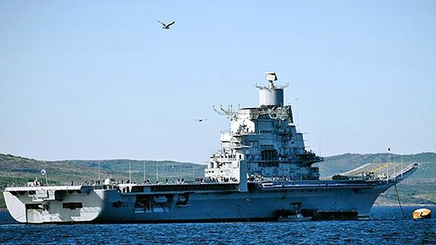 Fotos: Rusia prueba su nuevo portaaviones multifuncional