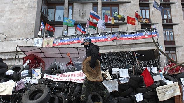 Ucrania: El 'gobernador popular' de Donetsk propone crear el estado de Novoróssia