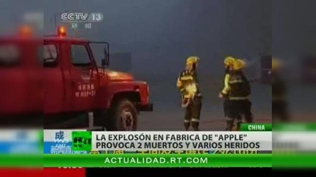 Dos personas mueren en China tras una explosión en una planta productora de iPads