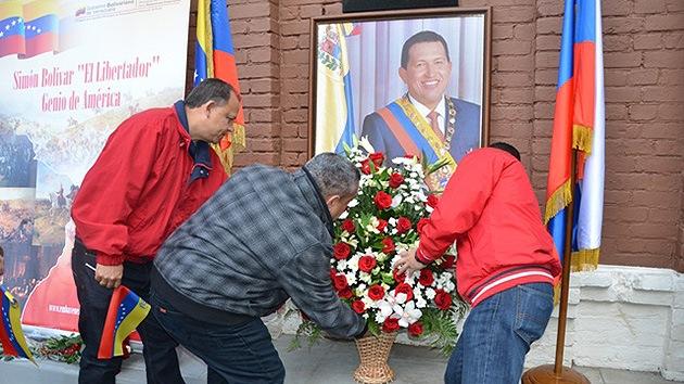 Moscú celebra el 59.º aniversario del nacimiento de Hugo Chávez