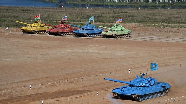 El Ejército ruso organiza el campeonato mundial de biatlón de tanques