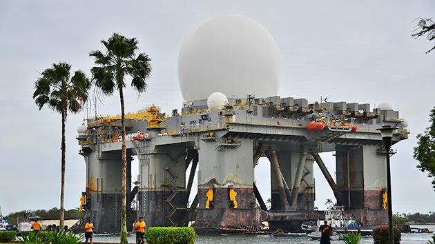 EE.UU. coloca un enorme radar flotante frente a la península de Corea