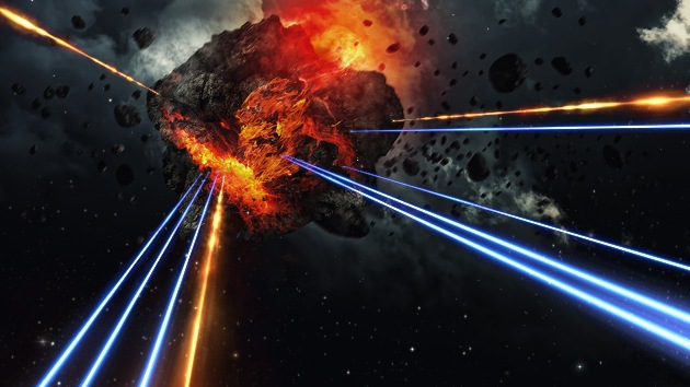 Un rayo láser de 200 teravatios podría destruir los asteroides que amenazan a la Tierra