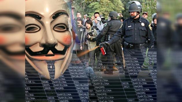 Represor de Ocupa Wall Street, blanco de los ataques de Anonymous