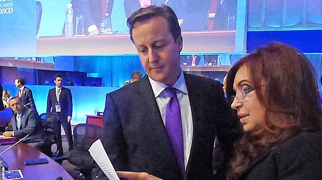 El primer ministro británico se niega a hablar con la presidenta argentina sobre las Malvinas