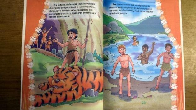 """'Nueva teoría' de la creación: acusan de """"racista"""" a un libro escolar en Perú"""