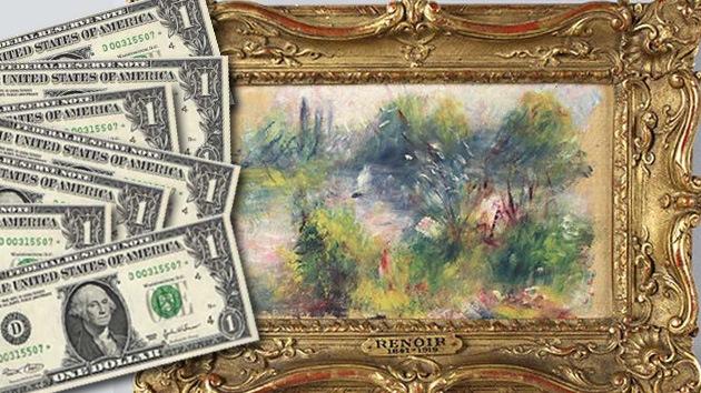 El arte de la suerte: Adquiere paisaje de Renoir por 7 dólares en un mercado de pulgas