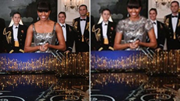 Los iraníes cubren los hombros desnudos de Michelle Obama
