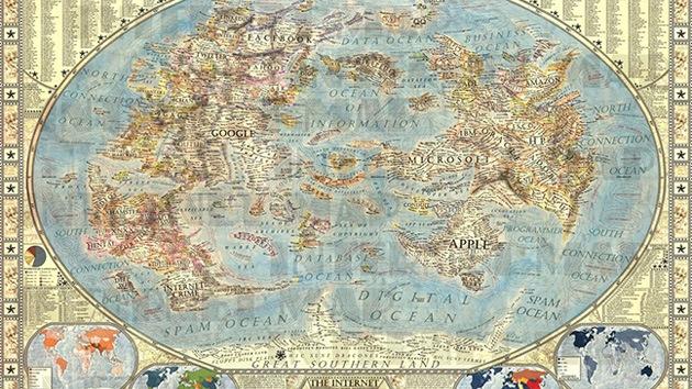 'Cibertierra' a la vista: ¿Cómo sería el mundo si Google, Apple o Yahoo fueran continentes?