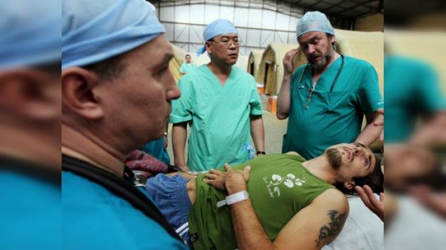 Médicos rusos atienden a las víctimas del sismo en Santiago