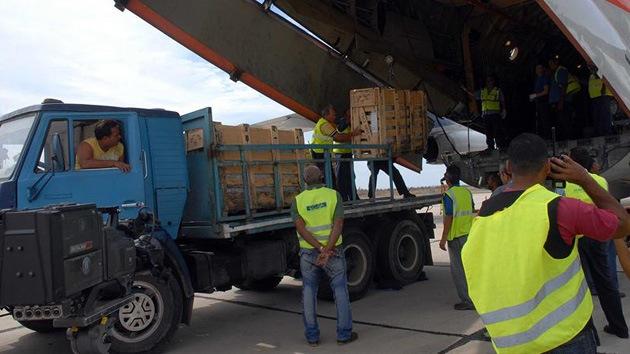 Llega a Cuba ayuda humanitaria de Rusia para los damnificados del Sandy