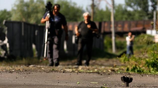 Periodistas de un canal ruso, en el epicentro de un ataque desde territorio ucraniano