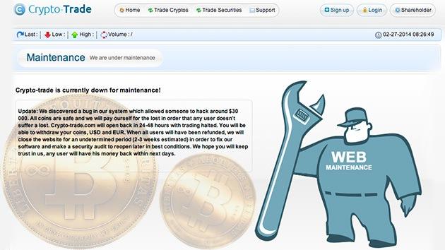 Cierra otra plataforma de cambio de bitcoines tras el robo de sus fondos