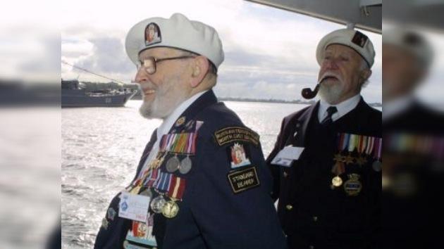 Los veteranos escoceses del convoy Ártico, galardonados con medallas rusas