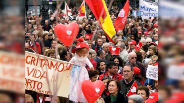 Manifestaciones múltiples se opusieron al aborto en España