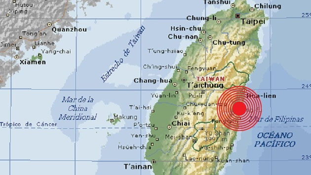 Un sismo de magnitud 6,3 sacude Taiwán