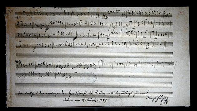 Hallan en Hungría las partituras originales de la 'Marcha turca' de Mozart