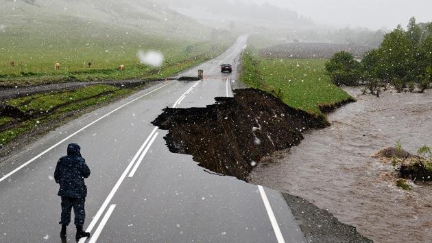 Fotos: Las fuertes lluvias e inundaciones causan cuantiosos daños en Rusia