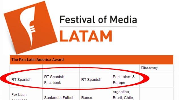 RT en español, finalista de premio mediático por su campaña de promoción en Facebook