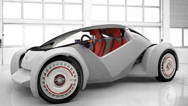 Los autos del futuro serán impresos en 3D