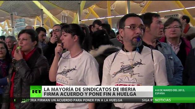 La huelga de Iberia toca a su fin: la mayoría de los sindicatos firman el acuerdo