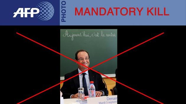 """Exigen """"borrar obligatoriamente"""" una foto que deja en ridículo a François Hollande"""