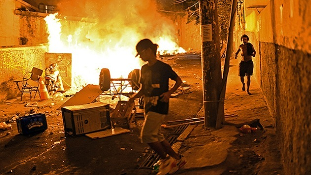 Intensas protestas en Río de Janeiro tras una muerte violenta en una favela