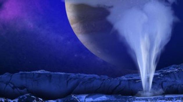 Una luna de Júpiter expulsa columnas de vapor de 200 kilómetros