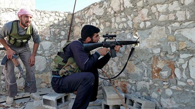 El Ejército sirio confisca a los rebeldes armas de producción estadounidense