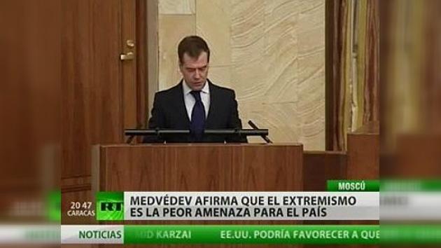 Terrorismo, protección de fronteras y espionaje, prioridades para Medvédev