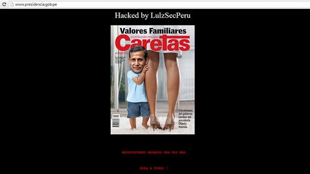 Anonymous 'hackea' la web de la Presidencia de Perú para criticar al Gobierno