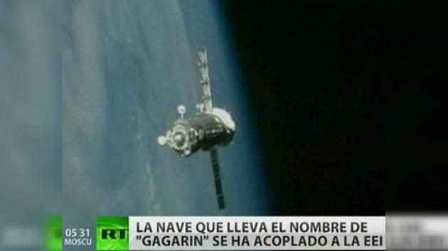 El acoplamiento de la nave 'Gagarin' se ha realizado con éxito