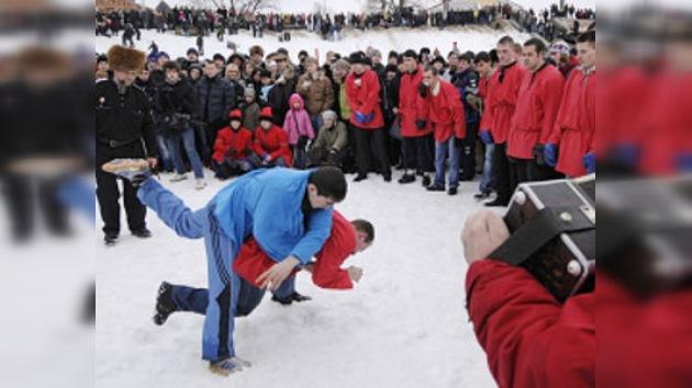 Los moscovitas celebrarán la Navidad a puñetazos