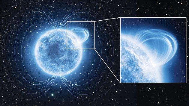 Una estrella muerta tiene uno de los campos magnéticos más intensos del universo
