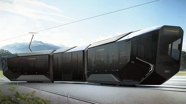 FOTOS: Impresionante prototipo de un tranvía a lo 'Star Wars' de producción rusa