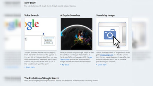 Voz e imagen, nuevos instrumentos de búsqueda de Google