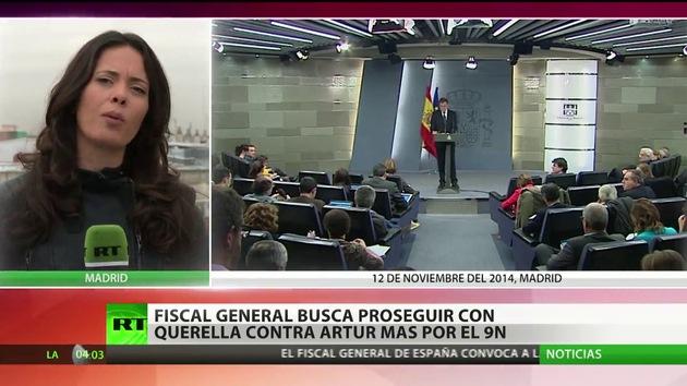 El fiscal general de España quiere proseguir con la querella contra Artur Mas por el 9-N